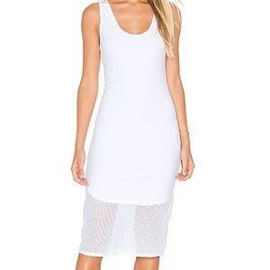 Michael Stars Mesh White Tank Midi Dress M